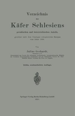 Verzeichnis der Käfer Schlesiens von Gerhardt,  Julius