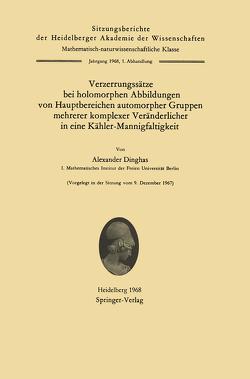 Verzerrungssätze bei holomorphen Abbildungen von Hauptbereichen automorpher Gruppen mehrerer komplexer Veränderlicher in eine Kähler-Mannigfaltigkeit von Dinghas,  Alexander