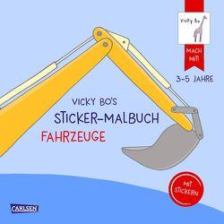 Vicky Bo: Vicky Bo's Sticker-Malbuch Fahrzeuge: Erstes Malen, Zeichnen und Kritzeln mit Stickern von Bo,  Vicky