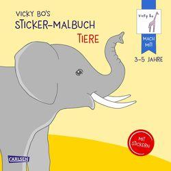 Vicky Bo's Sticker-Malbuch Tiere: Erstes Malen, Zeichnen und Kritzeln mit Stickern von Bo,  Vicky