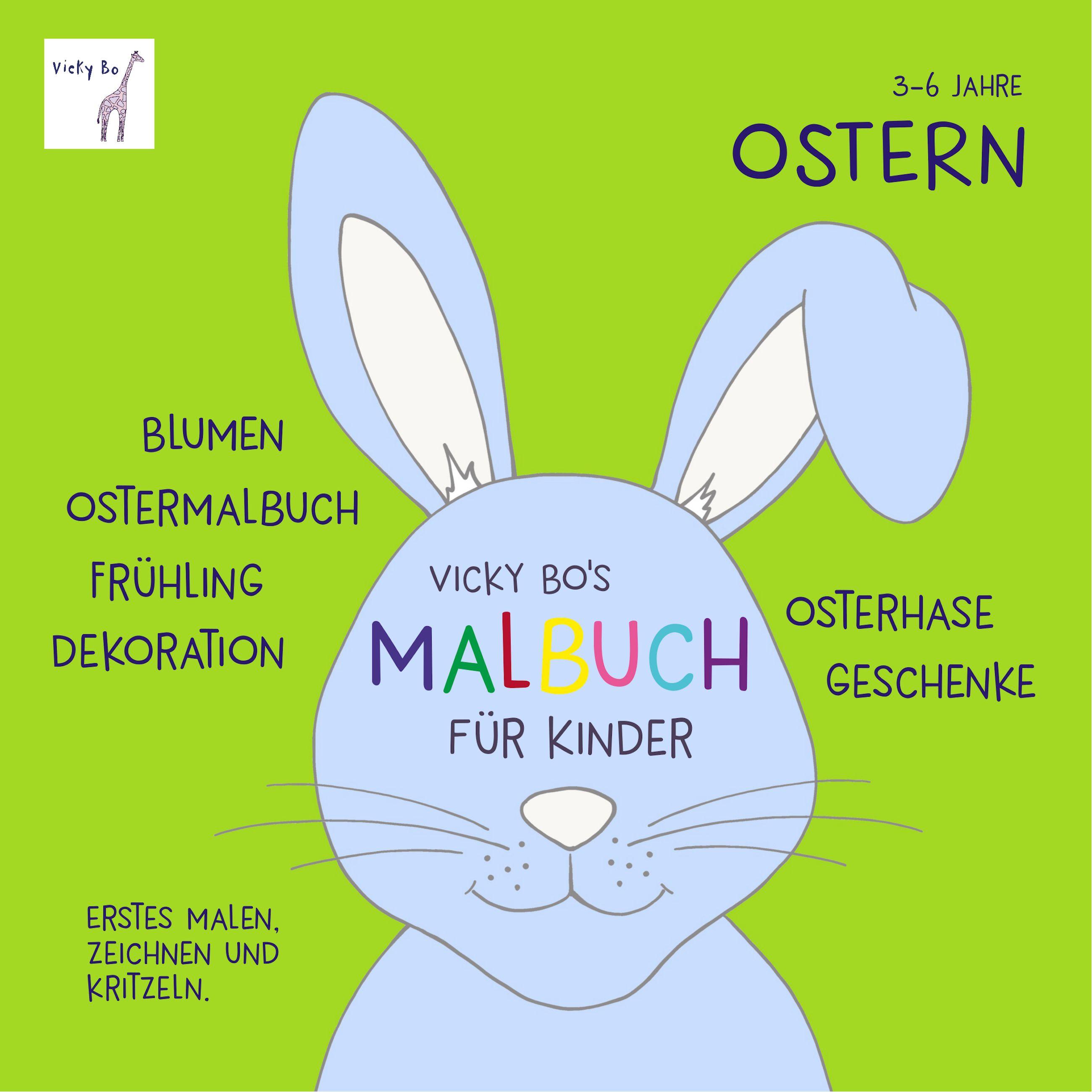 Malbuch Ostern ab 3 Jahre von Vicky Bo: Blumen, Ostermalbuch, Frühlin