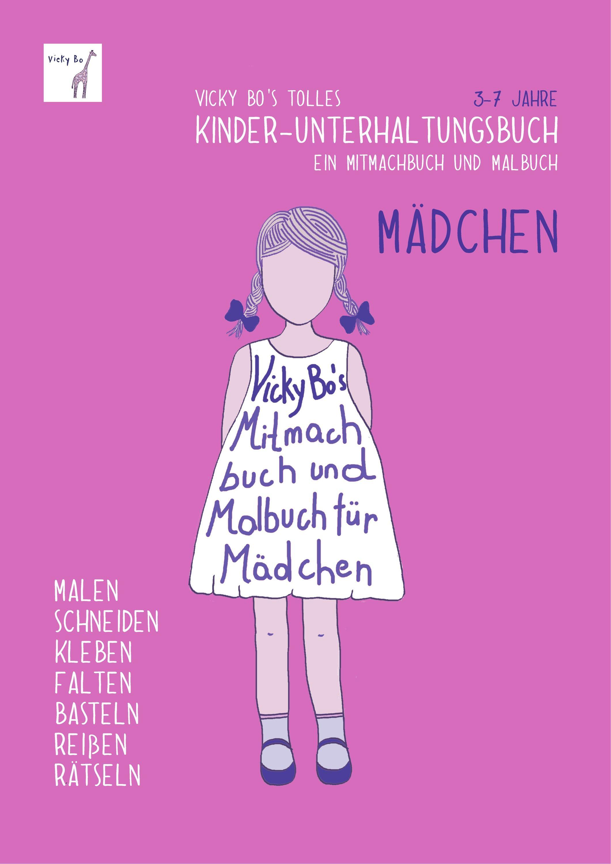 Kinder Unterhaltungsbuch Mädchen Mitmachbuch Und Malbuch