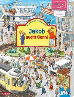 Viele bunte Sachen suchen mit Jakob und Conni: ELTERN-Vorlesebücher: Jakob sucht Conni von Friedl,  Peter, Grimm,  Sandra