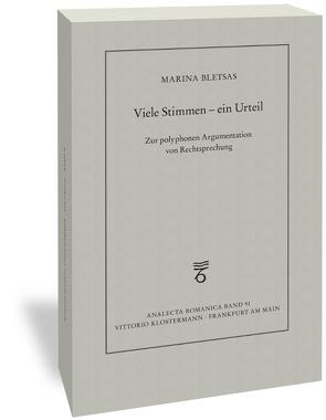 Viele Stimmen – ein Urteil von Bletsas,  Marina