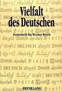 Vielfalt des Deutschen von Hoffmann,  Walter, Macha,  Jürgen, Mattheier,  Klaus J., Wegera,  Klaus-Peter