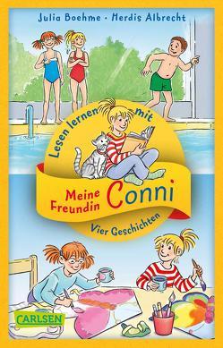 Vier Conni-Geschichten zum Lesenlernen: Conni und der Frechdachs / Conni ist nicht feige / Conni und der verlorene Drachen / Conni reist zu den Sternen von Albrecht,  Herdis, Boehme,  Julia