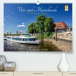 Vier- und Marschlande Hamburgs grüner Südosten (Premium, hochwertiger DIN A2 Wandkalender 2020, Kunstdruck in Hochglanz) von Ohde,  Christian