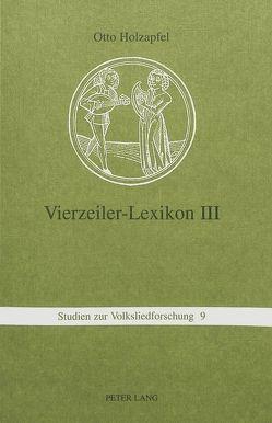Vierzeiler-Lexikon. III von Holzapfel,  Otto