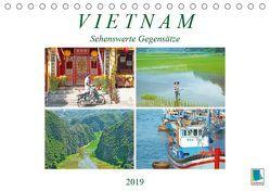 Vietnam: Sehenswerte Gegensätze (Tischkalender 2019 DIN A5 quer) von CALVENDO