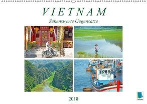 Vietnam: Sehenswerte Gegensätze (Wandkalender 2018 DIN A2 quer) von CALVENDO