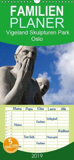 Vigeland Skulpturen Park Oslo – Familienplaner hoch (Wandkalender 2019 , 21 cm x 45 cm, hoch) von M. Laube,  Lucy
