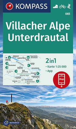 Villacher Alpe, Unterdrautal von KOMPASS-Karten GmbH