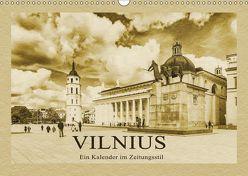 Vilnius – Ein Kalender im Zeitungsstil (Wandkalender 2019 DIN A3 quer) von Kirsch,  Gunter