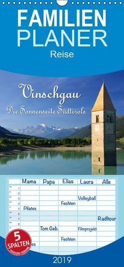 Vinschgau – Die Sonnenseite Südtirols – Familienplaner hoch (Wandkalender 2019 , 21 cm x 45 cm, hoch) von LianeM