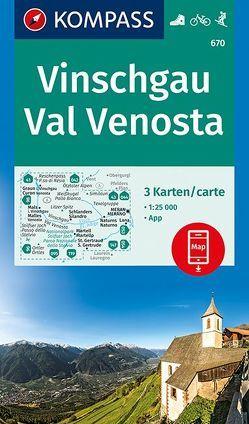 Vinschgau, Val Venosta von KOMPASS-Karten GmbH