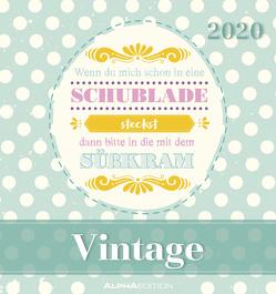 Vintage 2020 – Postkartenkalender (16 x 17) – zum aufstellen oder aufhängen – Geschenkidee – Sprüche-Kalender – Gadget von ALPHA EDITION