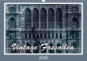 Vintage-Fassaden (Wandkalender 2020 DIN A3 quer) von Braun,  Werner