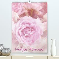 Vintage Flowers (Premium, hochwertiger DIN A2 Wandkalender 2020, Kunstdruck in Hochglanz) von Otto,  Anja