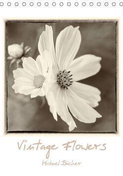 Vintage-Flowers (Tischkalender 2019 DIN A5 hoch) von Bücker,  Michael