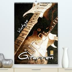 Vintage Gitarren (Premium, hochwertiger DIN A2 Wandkalender 2020, Kunstdruck in Hochglanz) von Bleicher,  Renate