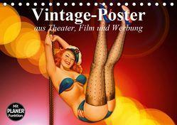 Vintage-Poster aus Theater, Film und Werbung (Tischkalender 2019 DIN A5 quer) von Stanzer,  Elisabeth