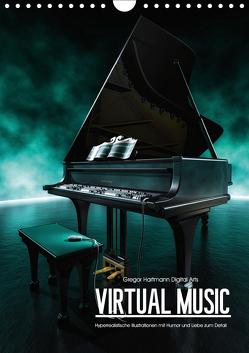 VIRTUAL MUSIC – Musikinstrumente in Hyperrealistischen Illustrationen (Wandkalender 2019 DIN A4 hoch) von Hartmann,  Gregor