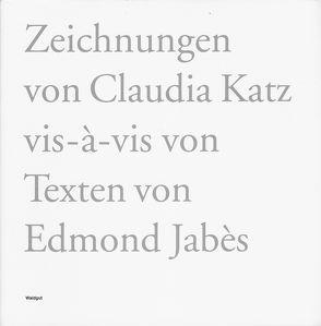 Vis-à-vis von Brechbühl,  Beat, Jabès,  Edmond, Katz,  Claudia