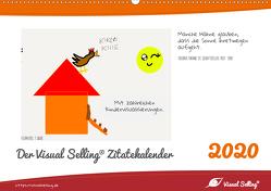 Visual Selling® Zitatekalender 2020 (Wandkalender 2020 DIN A2 quer) von Hamel,  Miriam