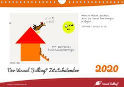 Visual Selling® Zitatekalender 2020 (Wandkalender 2020 DIN A4 quer) von Hamel,  Miriam