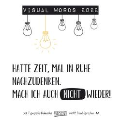 Visual Words 2022 von Korsch Verlag