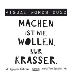 Visual Words Black 2020 von Korsch Verlag