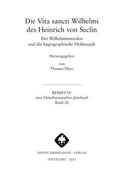 Vita sancti Wilhelmi von Haye,  Thomas, von Seclin,  Heinrich