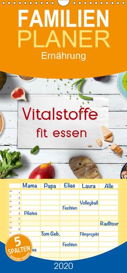 Vitalstoffe – fit essen – Familienplaner hoch (Wandkalender 2020 , 21 cm x 45 cm, hoch) von Bergmann,  Kathleen