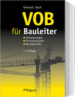VOB für Bauleiter von Bach,  Hendrik, Kimmich,  Bernd