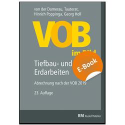 VOB im Bild – Tiefbau- und Erdarbeiten – E-Book (PDF) von Holl,  Georg, Poppinga,  Hinrich