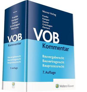 VOB Kommentar von Franke,  Horst, Grünhagen,  Matthias, Kemper,  Ralf, Mertens,  Susanne, Zanner,  Christian