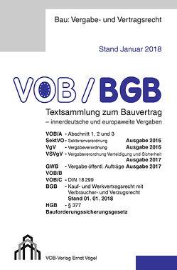 VOB/BGB Textsammlung zum Bauvertrag – innerdeutsche und europaweite Vergaben von Frikell,  Eckhard, Hofmann,  Olaf