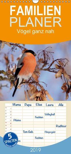 Vögel ganz nah – Familienplaner hoch (Wandkalender 2019 , 21 cm x 45 cm, hoch) von Erlwein,  Winfried