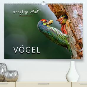 Vögel – Hungrige Brut (Premium, hochwertiger DIN A2 Wandkalender 2020, Kunstdruck in Hochglanz) von Roder,  Peter