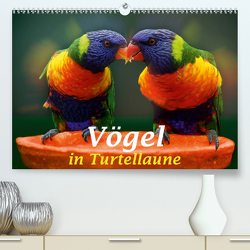 Vögel in Turtellaune (Premium, hochwertiger DIN A2 Wandkalender 2020, Kunstdruck in Hochglanz) von Brunner-Klaus,  Liselotte