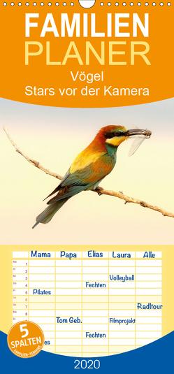 Vögel Stars vor der Kamera – Familienplaner hoch (Wandkalender 2020 , 21 cm x 45 cm, hoch) von R Bogner,  J