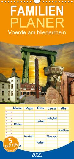 Voerde am Niederrhein – Familienplaner hoch (Wandkalender 2020 , 21 cm x 45 cm, hoch) von Daus,  Christine