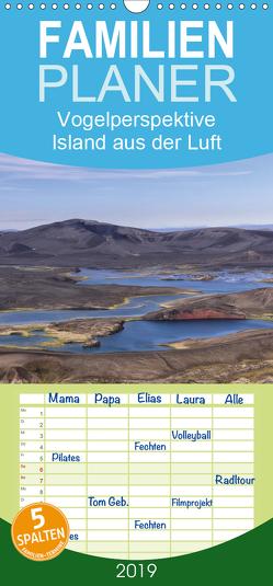 Vogelperspektive Island aus der Luft – Familienplaner hoch (Wandkalender 2019 , 21 cm x 45 cm, hoch) von Gerken,  Klaus