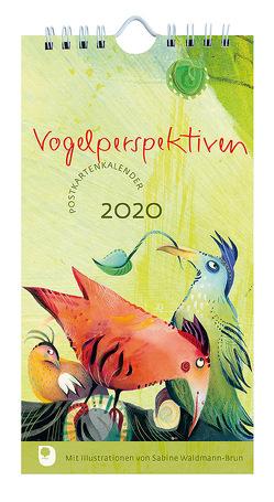Vogelperspektiven Postkartenkalender 2020 von Waldmann-Brun,  Sabine