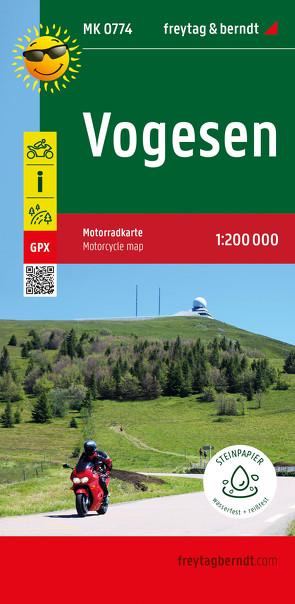 Vogesen, Motorradkarte 1:200.000, freytag & berndt