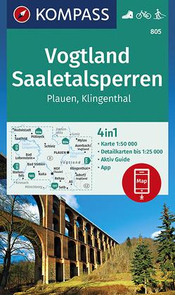 Vogtland, Saaletalsperren, Plauen, Klingenthal von KOMPASS-Karten GmbH