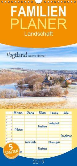 Vogtland – unsere Heimat – Familienplaner hoch (Wandkalender 2019 <strong>21 cm x 45 cm</strong> hoch) von studio-fifty-five