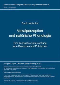 Vokalperzeption und natürliche Phonologie von Hentschel,  Gerd