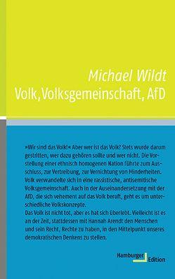 Volk, Volksgemeinschaft, AfD von Wildt,  Michael