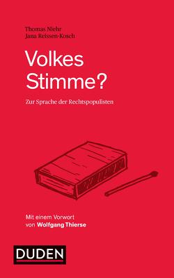 Volkes Stimme? von Niehr,  Thomas, Reissen-Kosch,  Jana